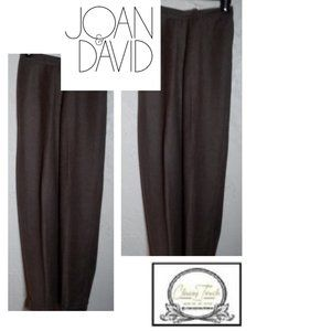 Joan & David Brown Textured Wool Pants Size 4